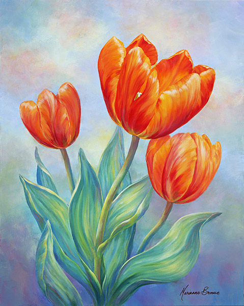 Painting tulips in acrylics - Painting tips will make home come alive ...